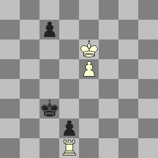 Black moved Kc2 and lost quickly