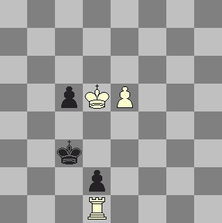 White attacks a black pawn with Kd5