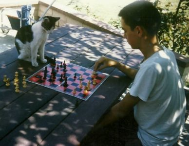 chess player Jon Whitcomb, long ago